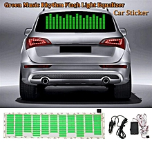 45X11cm Green LED Car Sticker Music Rhythm Flash Light Sound Activated Equalizer