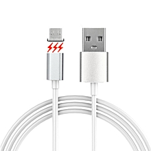 Micro USB Detachable Magnetic Adhesion Data Sync Charging Cable For Android Phone - White