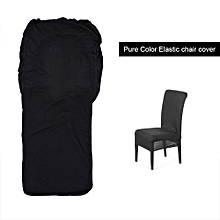 【clearance Sale+ready Stock】Half-cover Pure Color Chair Cover Strong Elastic Removable Hotel Banquet Decor