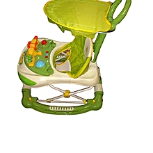 Baby Walker For Kids Green Colour 2 in 1 babywalker