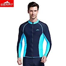 men's Long-sleeved Rashguard Top swimsuit Anti-UV Snorkeling Surf Clothing