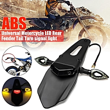 Motorcycle Enduro Dirt Bike Fender LED Stop Brake Rear Tail Turn Light Lamps