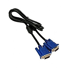 VGA Cable (Male To Male) - Blue & Black