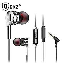 QKZ DM9 HiFi Earphone s Alloy BASS Metal DJ MP3 Headset with Mic 3.5mm Hifi For Cell Phone PRI-P