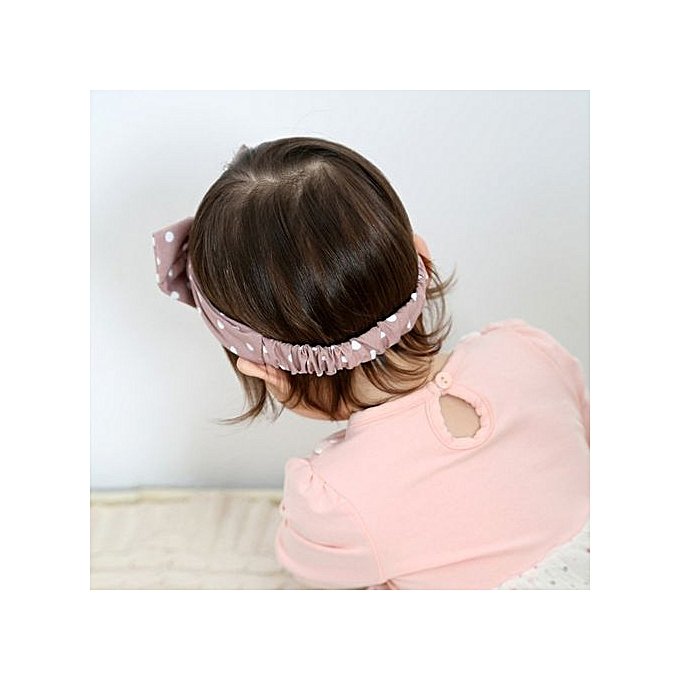 0a6ea5d2afc Braveayong Cute Kid Baby Girls Princess Dots Bowknot Headband Elastic Hairband  Headwear -Purple ...