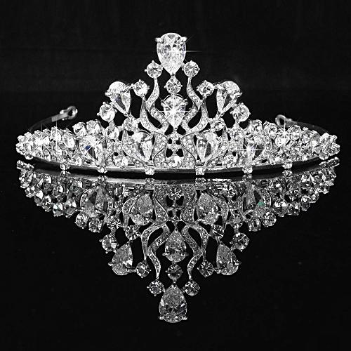 Cubic Zirconia Elegant Wedding Bridal Tiaras Crown Princess Cz Headwear Rhinestone Hair Accessories Bride Jewelry For