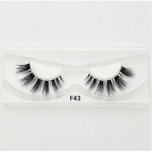 c05a5c2fcb7 Generic Mink Lashes 3D Mink Eyelashes Invisible Band Natural Black Mink  False EyeFull Strip cilios posticos Reusable F41(F43)