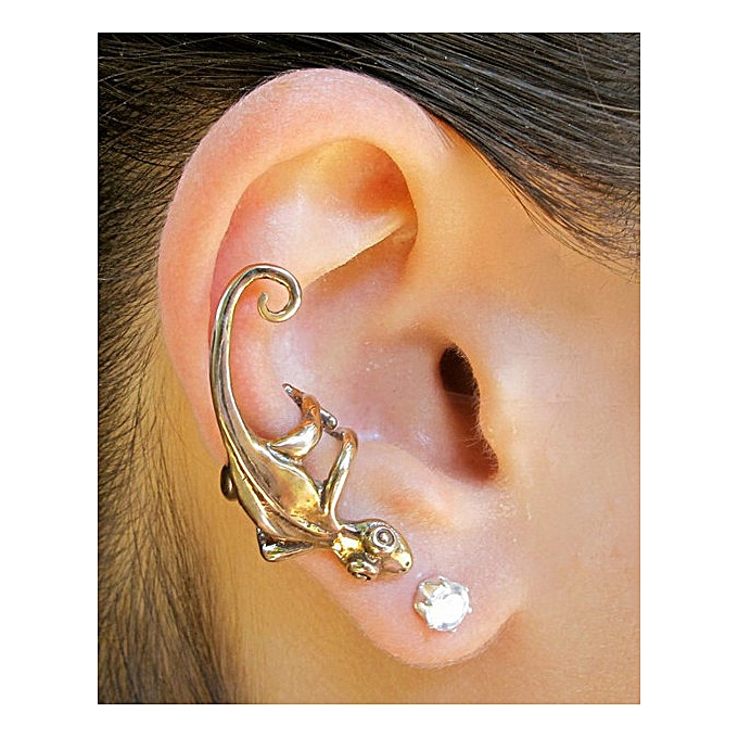 5760206d3 Antique Silver-Gothic jewelry cat ear hanging clip ear expanding bone clip  ear decoration