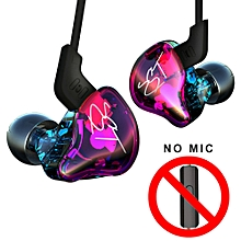 Pro 3.5mm Wired In Ear Headphones HiFi Music Earphones 1DD+1BA Dynamic Armature Drivers Sports Headset with Replacement Earphone Cable Earbuds Purple