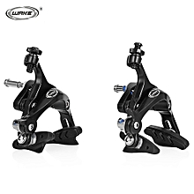 Pair Of Racing Road Dual Pivot Bike Aluminum Alloy Side Pull Caliper Front Rear Brake-Black