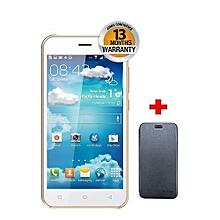 """V10 - 5.0"""" - 8GB - 5MP - Dual SIM - White + Free Flip Cover."""