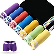 7 Pieces Mens Cotton Mid Rise U Convex Days Of The Week Underwear Boxers Briefs