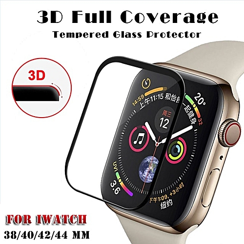 premium selection c9a05 db6ef 3D Curved Full Cover Tempered Glass For Apple Watch Band Series 4 40mm 44mm  Screen Protector For iWatch 4/3/2/1 42mm 38mm