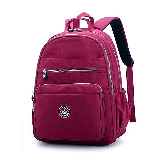 08bf45f613e ... Women Nylon Water Repellent Casual Travel Backpack Lightweight Daypack rose  red