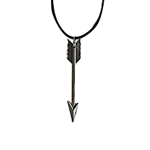 Black Arrow Corded Necklace