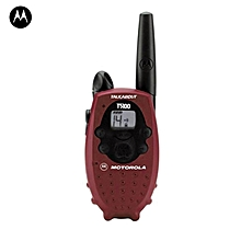 Motorola T5100 14-Channel FRS Two Way Walkie-Talkie Radio - Red/Black