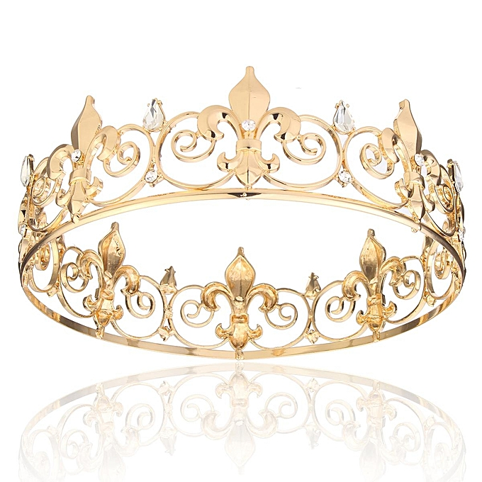 Buy Generic 5 Pcs Hot Vintage Baroque Tiara King Crown Luxury Golden