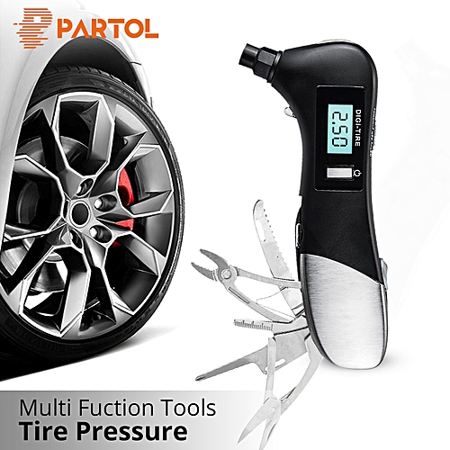 Generic Partol 9 In 1 Digital Tire Pressure Alarm Gauge