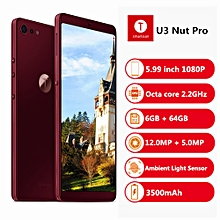 U3 Nut Pro 2 4G Phablet 5.99 inch 6GB RAM 64GB ROM-WINE RED