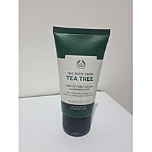 THE BODY SHOP TEA TREE MATTIFYING LOTION.