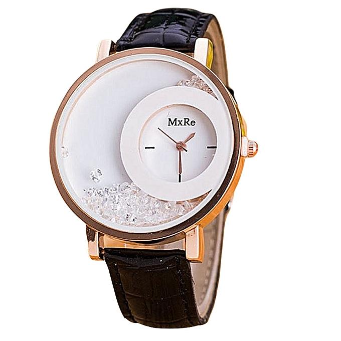 1599f084ea63 Generic Montre Femme Watch Woman PU Leather Quicksand Rhinestone Quartz  Watch Bracelet Watches Ladies Wristwatch Reloj Mujer