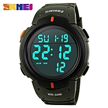 men digital sport watches rubber strap man fashion military chronograph alarm led clock brand waterproof swim wrist watch