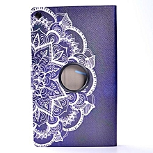 Case For Amazon Kindle Fire HD 8 2016 Patterned Leather Back Rotated Stand Case Cover-AS Show
