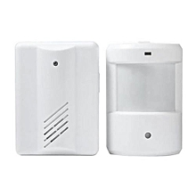 Wireless Infrared Sensor Doorbell With Receiver -White