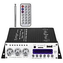 Kentiger V10 Bluetooth Hi-Fi Class-AB Audio Power Amplifier-BLACK