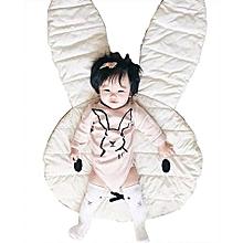 Baby Rabbit Play Mats Miffy Cartoon Toddler Blanket Cover Child Carpet Cushion - White & Grey