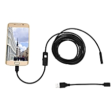 7mm Endoscope IP67 Waterproof USB Inspection Camera Error Test Tool for Android / Windows  - Black