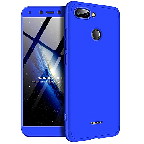 Redmi 6 Case, 3 In 1 Ultra Thin Anti-Scratch 360 Degree Full Protection Hard PC Cover Shockproof Case for Xiaomi Redmi 6