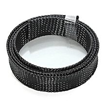 Diameter 4cm Black Braided Cable Sleeving Cable Wire Woven Network Management Long 1 Meter