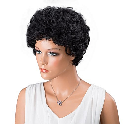 Generic Women Short Black Front Curly Hairstyle Synthetic Hair Wigs For  Black Women   Best Price  2f48c4cac7