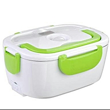Electric Lunch Box 1.05 Litres - White & Green