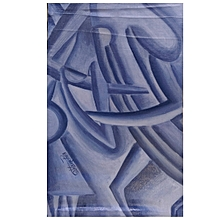 Musical abstract wall painting - 39.5cm by 66cm - Navy Blue