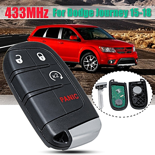4 Buttons Remote Key Fob with Battery For Dodge Journey 2015-2018433MHz
