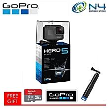 GoPro Hero5 / Hero 5 Black Edition Free Micro 16gb Card + GoPro Sticker + Monopod (GoPro Hero 5 Black) (FunSportz Warranty)