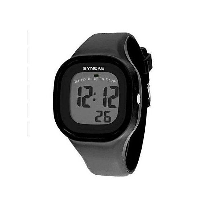 Synoke 66896 Women Waterproof Sport Watch Cool Fashion Digital Wristwatch ( Black)