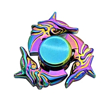 Rainbow Colors Tri Fidget Hand Spinner Triangle Alloy Toy EDC Focus ADHD Autism