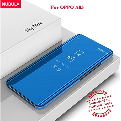the latest ead83 c96d5 For OPPO A83 Flip Case,360 Degree Luxury Mirror Clamshell Hard Shell Case  Smart Clear View Flip Cover For OPPO A83 186188 Color-5