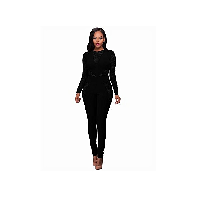 18961621cfc8 Refined vogue sexy women long sleeve jumpsuit hollow out slim fit causal playsuit  black jpg 680x680