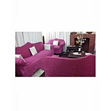 Sofa Seat Covers -3+2+1+1 - Fuschia