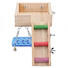 Cute Wooden Pets Hamster House Squirrel Mouse Ladder Attic Swing Cage Toy Set