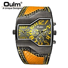 Watches, 1220 Luxury Brand Men Quartz Watches Double Time Show Casual Sports Watches - Yellow