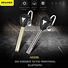 Awei A830BL Bluetooth V4.1 CVC 6.0 Noise Cancelling Earphone Wireless Headset Car Kit Hands Free