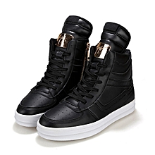 Fashion Men's High Top Lace Up Sneakers Ankle Boots Skateboard Casual Shoes