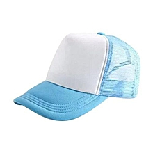 New Arrival Adjustable Child Solid Casual Hats For New Classic Trucker Summer Kids Baseball Golf Mesh Cap Sun Hats(Sky Blue)