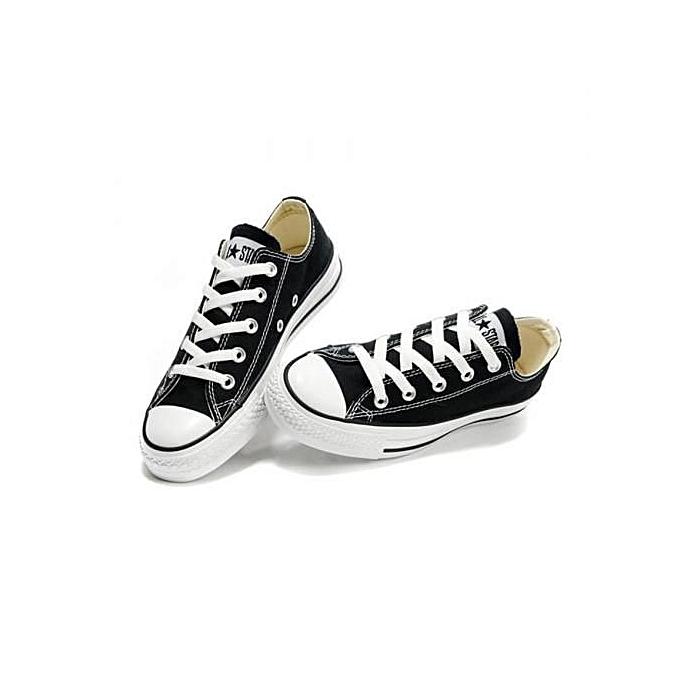 Black n White Canvas Rubber Shoes