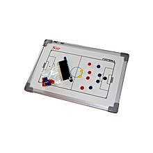 "Football Coaching Board Magnetic on Frame - 12"" x 18"" - White"